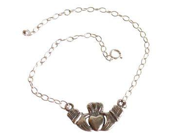 Gemshine - Damen - Armband - Claddagh - 925 Silber