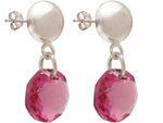 Gemshine Damen Ohrringe Pink Rose MADE WITH SWAROVSKI ELEMENTS. 925 Silber, hochwertig vergoldet oder rose - Nachhaltiger, qualitätsvoller Schmuck Made in Spain Bild 6
