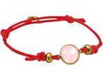 Gemshine Damen Knotenarmband Rosenquarz - Größenverstellbar. 925 Silber, hochwertig vergoldet oder rose pink. Nachhaltiger, qualitätsvoller Schmuck Made in Germany