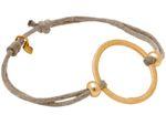 Gemshine Damen Knotenarmband Kreis beige - Größenverstellbar. Silber, hochwertig vergoldet oder rose - Nachhaltiger, qualitätsvoller Schmuck Made in Germany Bild 3