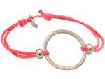 Gemshine Knotenarmband Kreis rose pink Koralle - Größenverstellbar. Silber, hochwertig vergoldet oder rose - Nachhaltiger, qualitätsvoller Schmuck Made in Germany