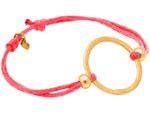 Gemshine Knotenarmband Kreis rose pink Koralle - Größenverstellbar. Silber, hochwertig vergoldet oder rose - Nachhaltiger, qualitätsvoller Schmuck Made in Germany Bild 3