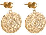 Gemshine Damen Ohrringe Yoga Mandala Kreis rund 2,5 cm in Silber, hochwertig vergoldet oder rose Ohrhänger - Nachhaltiger, qualitätsvoller Schmuck Made in Spain Bild 3