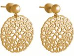 Gemshine Damen Ohrringe Yoga Mandala Kreis rund 3,5 cm in Silber, hochwertig vergoldet oder rose Ohrhänger - Nachhaltiger, qualitätsvoller Schmuck Made in Spain Bild 3