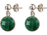 Gemshine Damen Ohrringe mit grünen Smaragden. 925 Silber, hochwertig vergoldet oder rose Ohrhänger. Nachhaltiger, qualitätsvoller Schmuck Made in Spain Bild 5