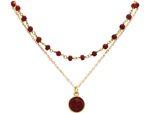 Gemshine Halskette Choker mit tiefroten Rubinen und Anhänger in 925 Silber oder hochwertig vergoldet. Nachhaltig - Qualitätsvoll - Made in Germany Bild 2