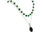 Gemshine Halskette Choker mit tiefgrunen Smaragden und Anhänger in 925 Silber oder hochwertig vergoldet. Nachhaltig - Qualitätsvoll - Made in Germany Bild 8