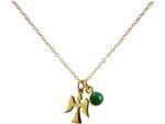 Gemshine - Damen - Halskette - Anhänger - Engel - Schutzengel - 925 Silber oder Vergoldet - Smaragd - Grün - 1,5 cm Bild 2