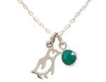 Gemshine Baby Pinguin Halskette Anhänger 925 Silber, vergoldet oder rose mit grünem Smaragd. Wildlife Winterschmuck. Nachhaltig, Fair Trade, Ethisch, Made in Spain Bild 6