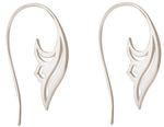 Gemshine YOGA Ohrringe Lotus Blumen Scroll-Creolen in 925 Silber, hochwertig vergoldet oder rose. Nachhaltiger, Fair Trade, qualitätsvoller Schmuck Made in Spain Bild 8