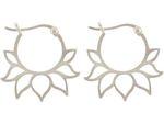 Gemshine YOGA Creolen Ohrringe Lotus Blumen Ohrhänger in 925 Silber, hochwertig vergoldet oder rose. Nachhaltiger, Fair Trade, qualitätsvoller Schmuck Made in Spain Bild 4