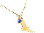 Gemshine Alpin Adler Wildlife Halskette mit blauem Saphir Edelstein Anhänger 925 Silber, vergoldet oder rose. Nachhaltig, Fair Trade, Ethisch - Made in Spain Bild 2