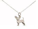 Gemshine Halskette Chihuahua Hund Anhänger. Massiv 925 Silber, vergoldet oder rose an 45cm Kette. Geschenk für Haustier Herrchen, Frauchen – Made in Spain