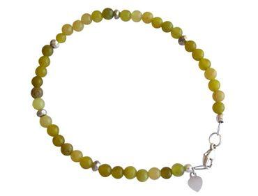 Gemshine - Damen - Armband - 925 Silber - Jade - Grün