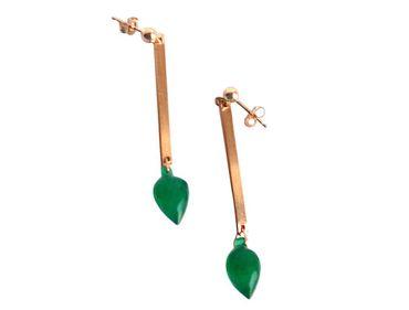 Gemshine - Damen - Ohrringe - Vergoldet - Onyx - Tropfen - Facettiert - Grün - 3 cm