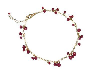 Gemshine - Damen - Armband - Vergoldet - Rubin - Rot - CONFETTI