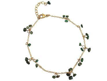 Gemshine - Damen - Armband - Vergoldet - Smaragd - Grün - CONFETTI