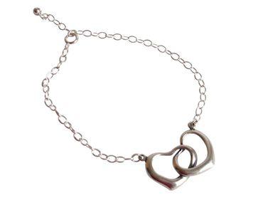Gemshine - Damen - Herz - Armband - 925 Sterling Silber - 45 cm