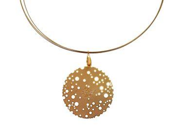 Gemshine - Damen - Halskette - Anhänger - Vergoldet - 4 cm