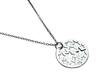Gemshine - Damen - Halskette - Anhänger - 925 Silber - Sternen Konstellation - 2,5 cm
