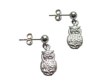 Gemshine - Damen - Ohrringe  - 925 Silber - UHU - 2 cm