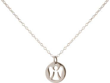 Gemshine - Damen - Halskette - Anhänger - 925 Silber - ENGEL - 1,2 cm