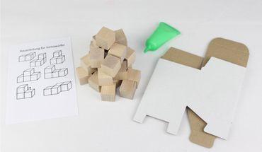 Bastelset Somawürfel Bausatz für Kinder mit Anleitung