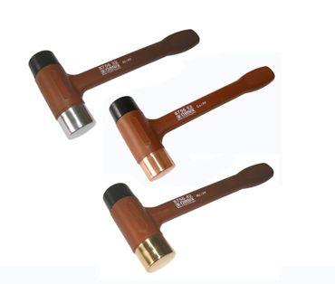 Hammer Set 3-tlg - mit Schlagkopf aus Hartplaste und Aluminim / Messing / Kupfer