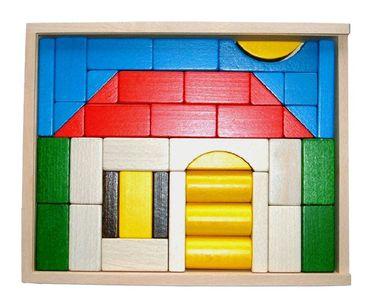 Baukasten Haus - bunt 41 Teile
