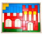 Baukasten Burg - rot 74 Teile 001