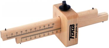 Streichmaß - Doppelt mit einer Arretierung - 170 mm Arbeitslänge
