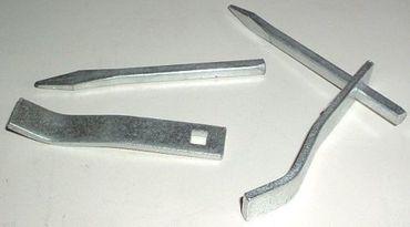 Putzhaken - 140 mm verzinkt / kantig / verstellbar - 10 Stück