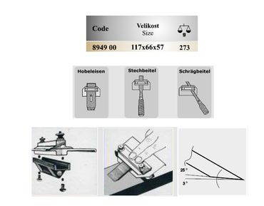 Schärfhilfe für Eisen mit schräger Schneide – Bild 3