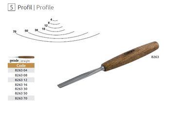 Kerbschnitzbeitel - Profil 5 - gerade / hohl - 12 mm – Bild 2