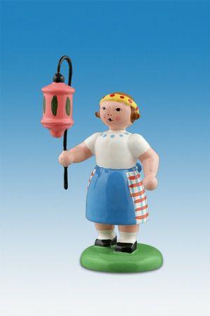 Mädchen mit rosa Lampion - Lampionkinder