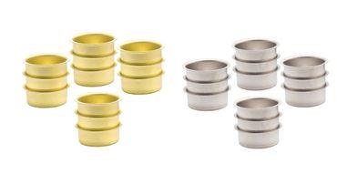 Teelicht Tülle Teelichthalter 40 mm - vermessingt und Weißblech – Bild 1