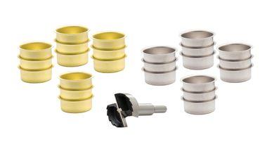 Teelicht Tülle 40 mm und ein Forstnerbohrer verzahnt 1 5/8'' (41,5 mm) – Bild 12