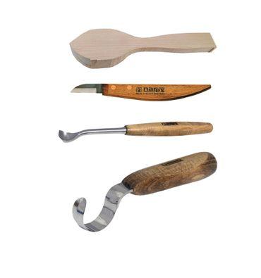 Kerbschnitzmesser Starterset 4-teilig für Aushöhlungen  – Bild 1