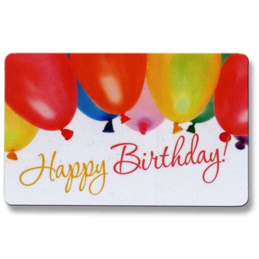 ec karte gl ckskarte happy birthday luftballon ebay. Black Bedroom Furniture Sets. Home Design Ideas