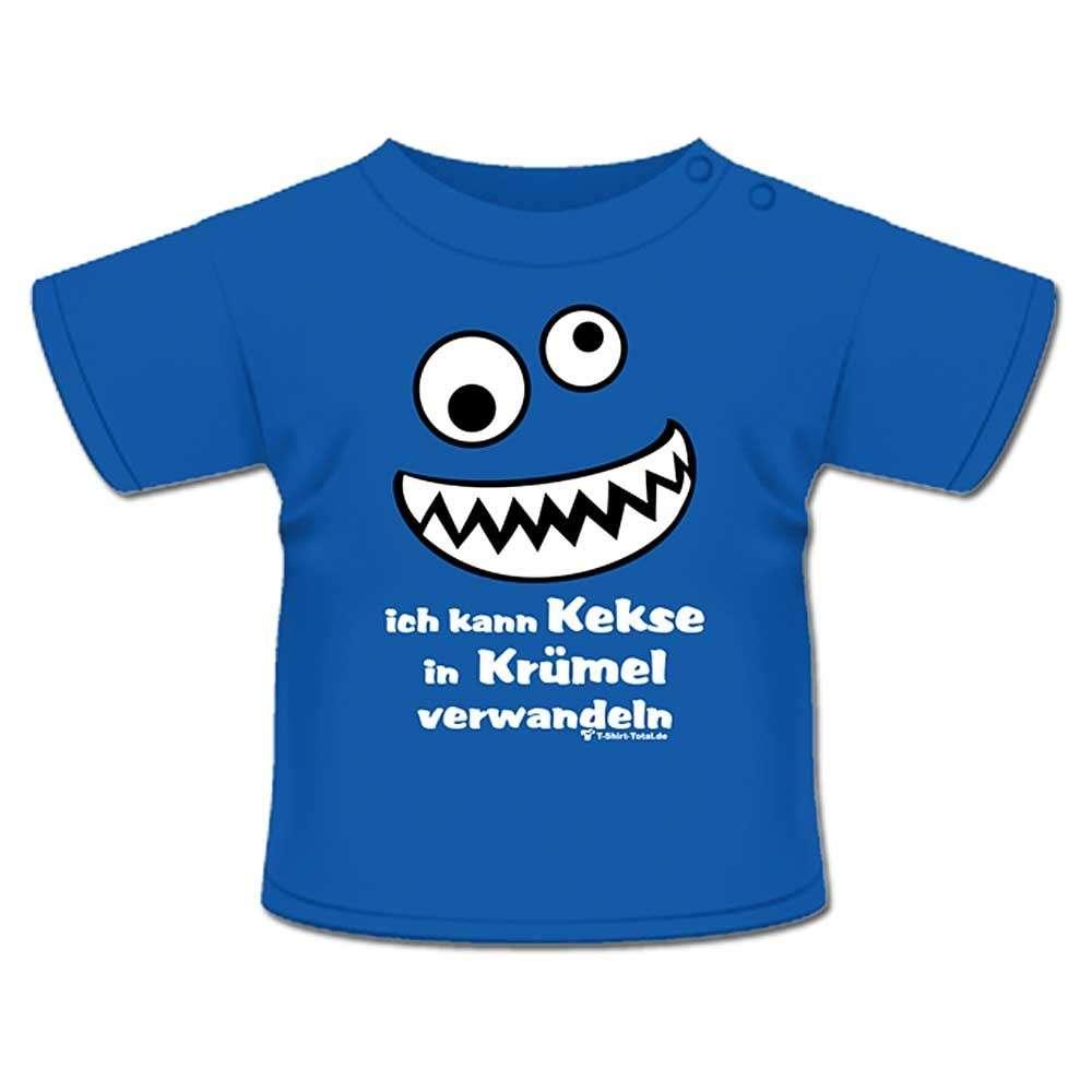 Anna & Philip Baby Kind Fun Spruch T-Shirt Royal blau Keks Krümel Größenwahl