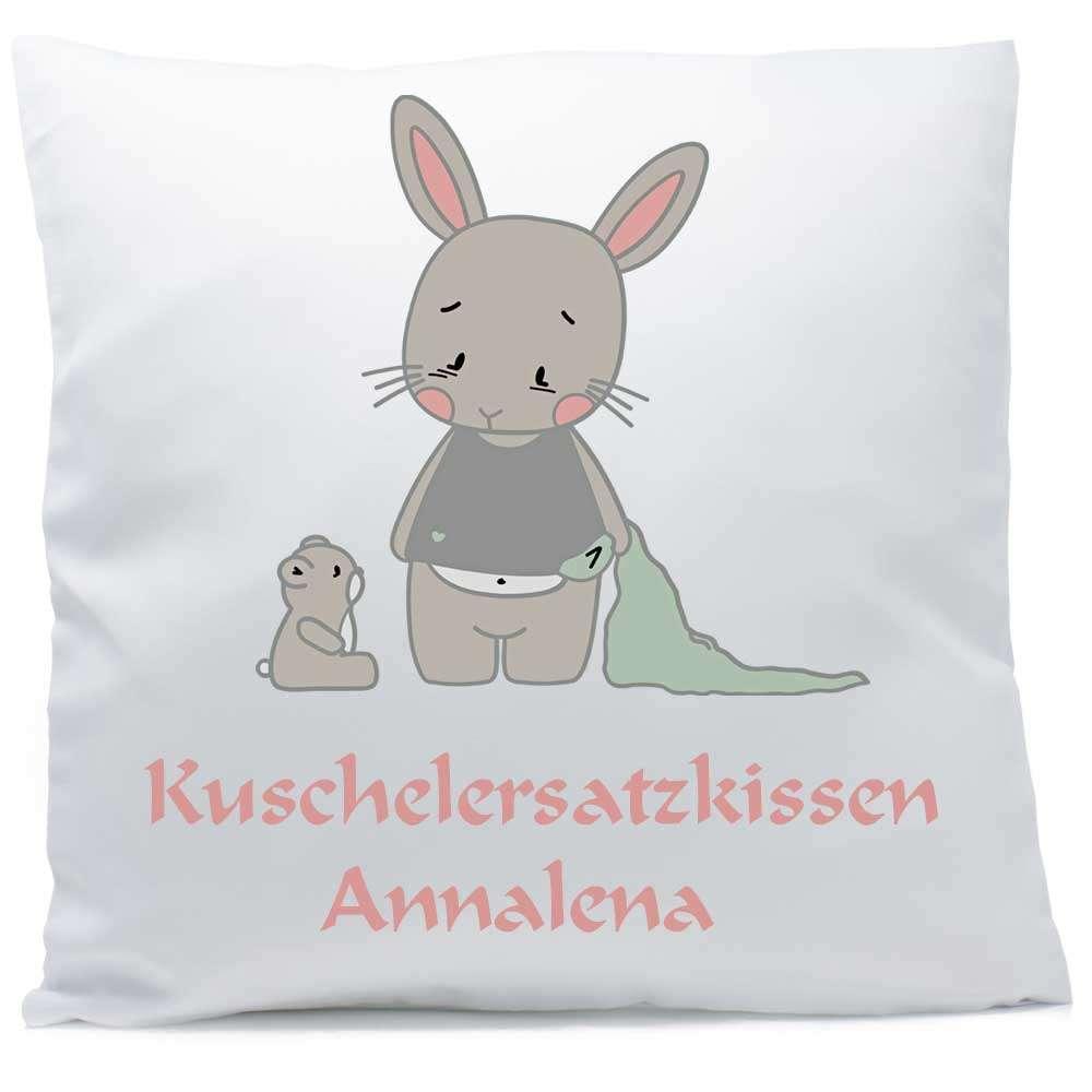 Kissen mit Namen Hase Bär Baby 40x40 cm inkl. Füllung Kuschelkissen