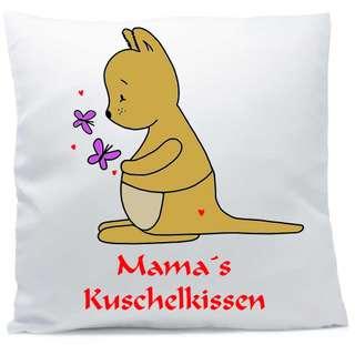 Kissen mit Namen Känguru Schmetterling Herz 40x40 cm inkl. Füllung Kuschelkissen