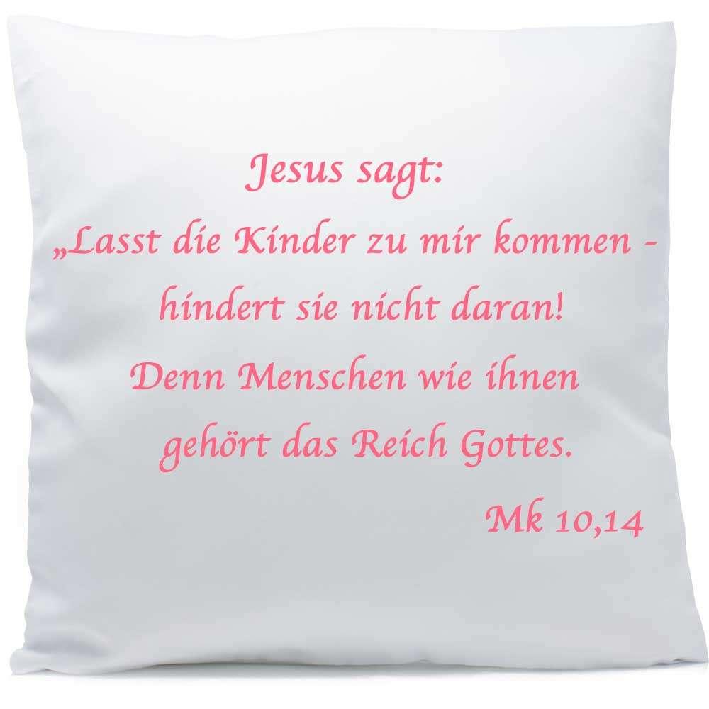Kissen Mit Namen Geburt Taufe Kerze Bibel 40x40 Cm Taufspruch