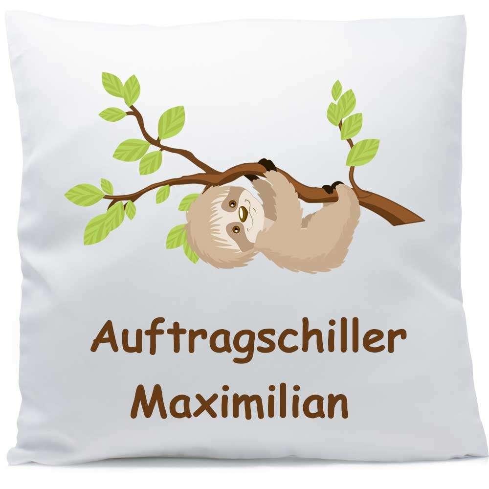 Kissen mit Namen Faultier Ast 40x40 cm inkl. Füllung