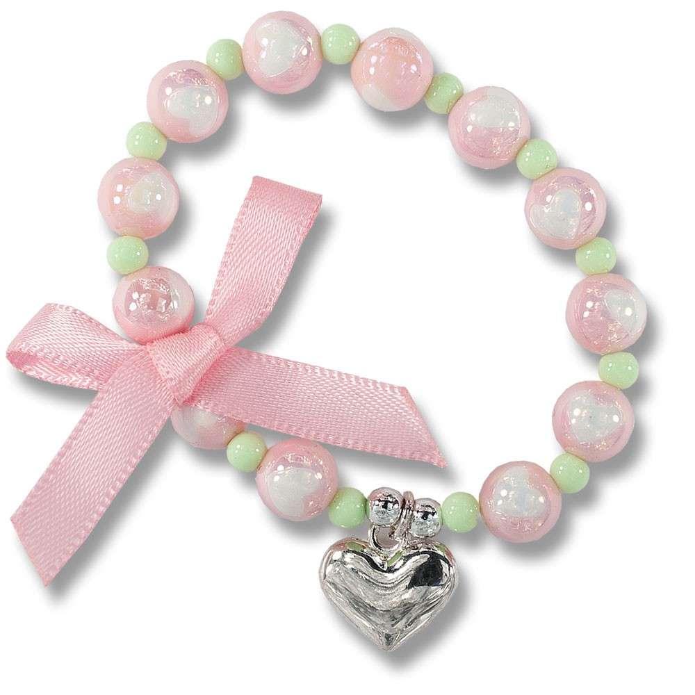 Trixibelles Perlenarmband rosa mit Herz
