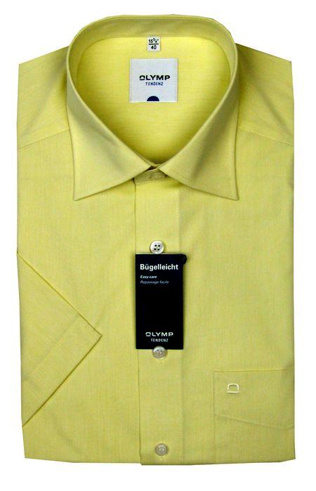 OLYMP Luxor Comfort fit Hemd hellgelb 7250-12-54 kurzarm Gr. 40