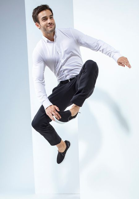PURE Functional Shirt, Slim Fit, weiß, 3687-21212-900 langarm