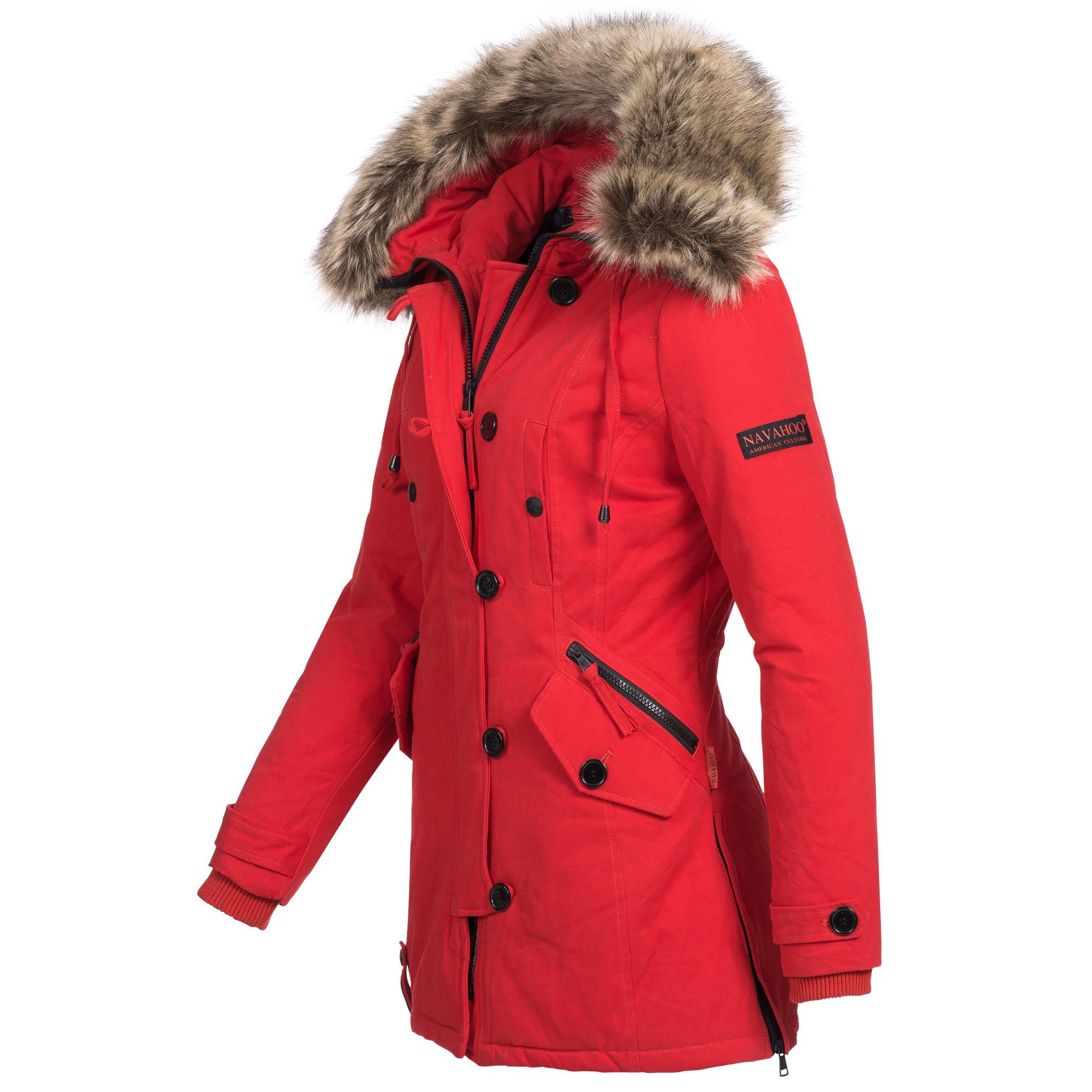 a91e2890bafaad Navahoo PAULINE Damen Jacke Parka Mantel Winterjacke warm gefüttert Luxus XS -XXL