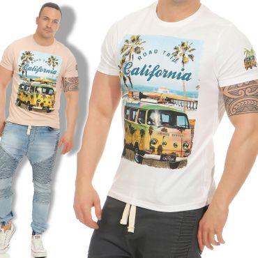 Brave Soul LAGOON Herren T-Shirt Tee Shirt Hemd kurzarm Print S-XL