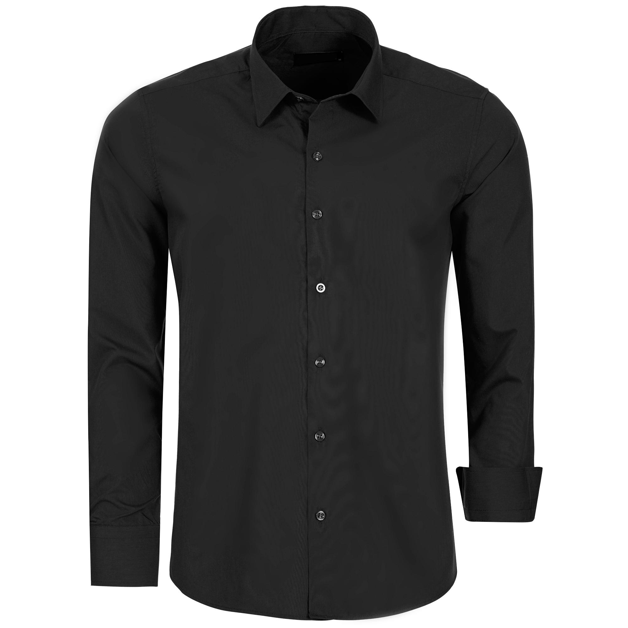 Hemd mit Kontrast Details Herren Hemden Weiß, Schwarz
